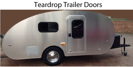 Teardrop trailer door