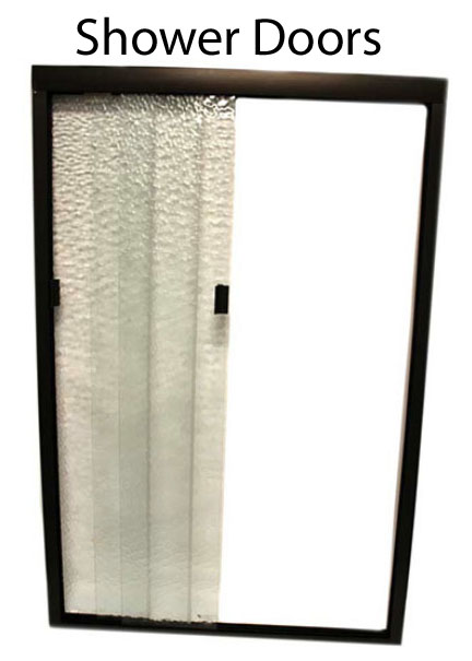 RV Shower Door glass or plastic