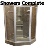 Complete recreational vehicle showers