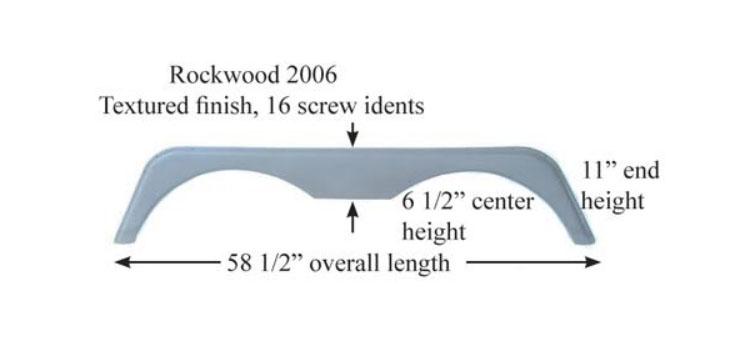 Fender Skirts- Tandem Axle Fiberglass - RV Windows