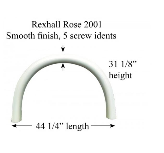 Fender Skirts - Single Axle Fiberglass - RV Windows