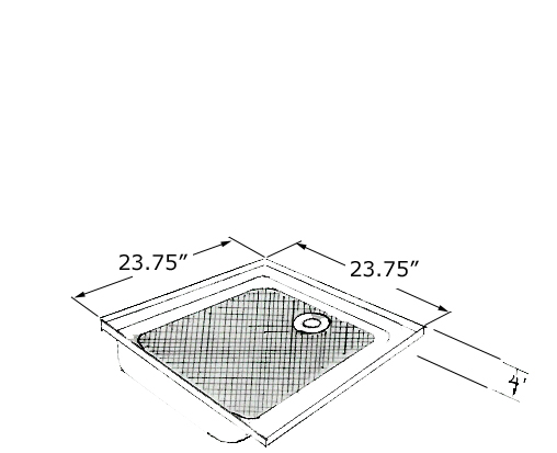 Charmant Shower Pan 23 3/4 X 23 3/4 Fits Shasta Model Number: 01 347. Price $407.04