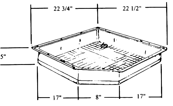 Shower Pan 22 3 4 X 1 2 17 5 Neo Angle Fits Wilderness Model Number 01 41 Price 560 64