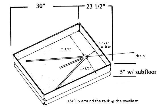 shower pans - rectangular  square