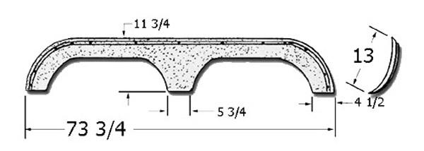 Fiberglass Fenderskirt 73 3 4 X 13 Fits Park Ave By Thor