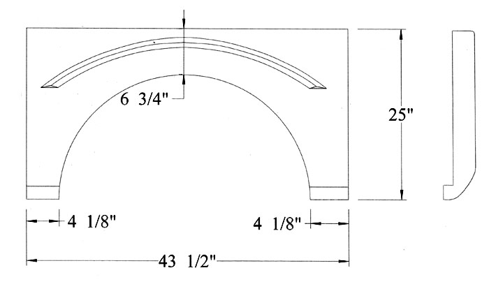 Fiberglass Fenderskirt 43 1 2 X 25 Fits Southwind Rv Windows