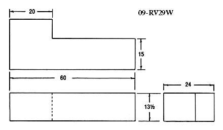 RV Fresh Water Tank 60 Gallon 60 x 24 x 13-1/2 - RV Windows