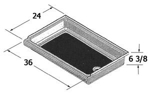 24 X 36 Shower Pan.Shower Pan 24 X 36 X 6 3 8 Right Hand Drain Rv Windows
