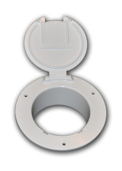 4 1 2 Quot Deluxe Round Cable Hatch Without Back Rv Windows