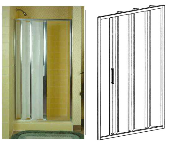 Ordinaire Magnafold Elite Shower Door 33 X 65. Model Number: 233365. Price $616.96