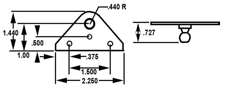 gas spring mounting bracket - flat