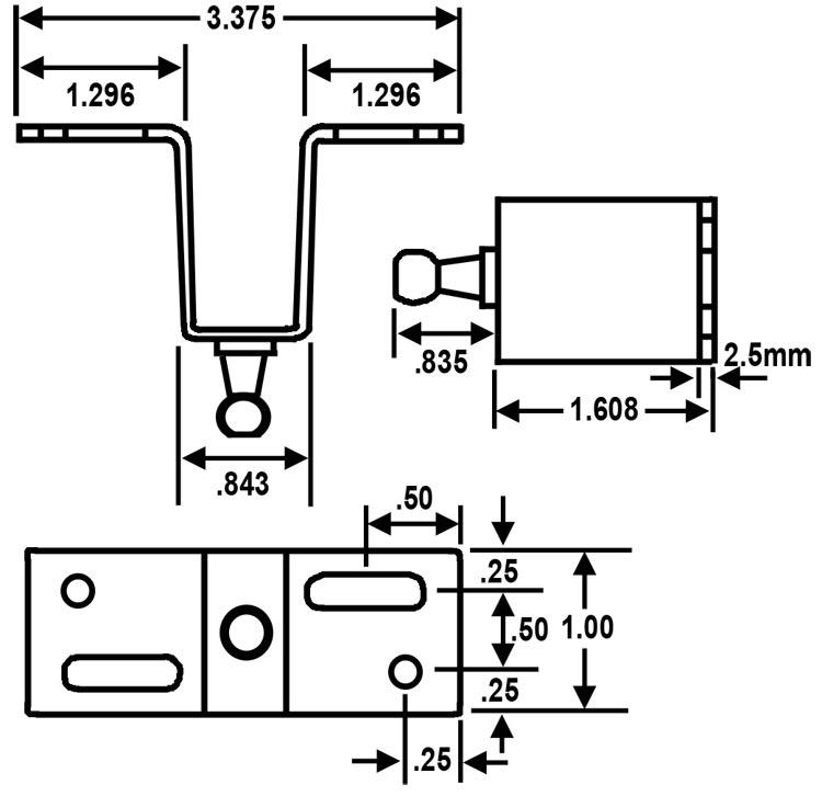 gas spring mounting bracket