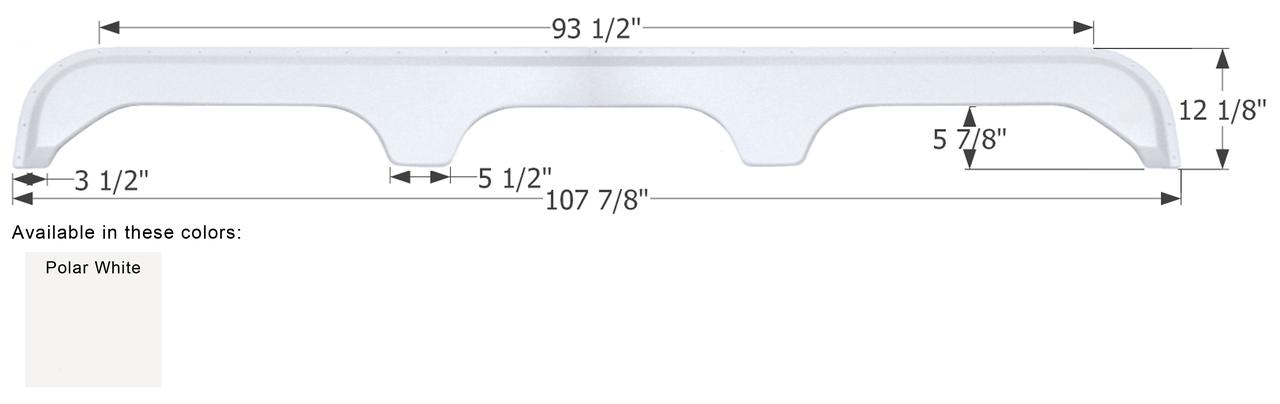 Fender Skirts - Triple Axle Fenderskirts - RV Windows